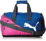 PUMA Fundamentals Sports Bag M Rose Violet-True BlueDati:• Materiale: Outdoor 100% poliestere, interno 100% poliestere• Dimensioni: Larghezza 60 cm, altezza 30 cm, profondità 23 cm• Colore: Rose Violet-True Blue (blu / rosa)• Fabbricante: PUM...