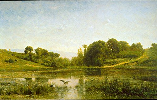Das Museum Outlet – Pool at Gylieu by Daubigny, gespannte Leinwand Galerie verpackt. 147,3 x 198,1 cm (Pool-möbel-outlet)