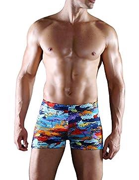 Sidiou Group Boxer shorts de baño de grande tamaño por hombre, shorts de baño ,Shorts de baño de secado rápido...