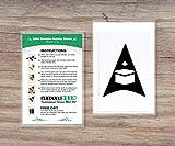 Qibla Direction Pointer Black (2pk) - Autocollant de décalque de mur/plafond (S005M)
