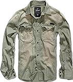 Brandit Hardee Denim Shirt Oliv-Grau - L