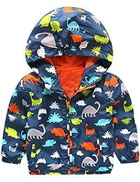 HARVEY JIA - Chaqueta Corto de Bebés Niños con Capucha Mentener Calor Abrigo de Niñas con