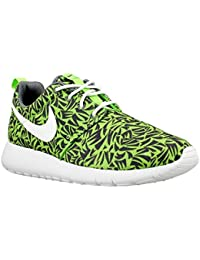 Nike Bambino, Roshe One Print GS, Nylon, Sneakers, Verde