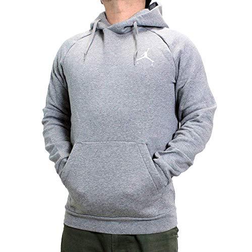 Nike M J Jumpman Fleece Po Sudadera, Hombre, Vintage Lichen Black/Whit