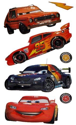 Unbekannt 7 TLG. Set: 3-D Wandtattoo / Fensterbild / Sticker - Cars Lightning McQueen - wasserfest - selbstklebend Pop-Up Aufkleber Wandsticker Auto