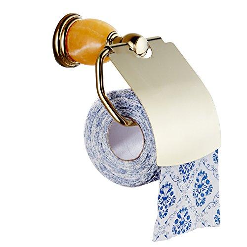 YFF Euro Stil Badezimmer Handtuchhalter wc Papier gelb Jade-gold -