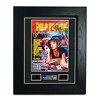 Pulp Fiction Signed + Pulp Fiction Film Cells Framed