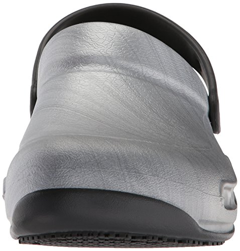 Crocs Bistro Graphic Clogs, Silver (Metallic Silver), 7 Uk Women 6 Uk Men (9 Us Women 7 Us Men)