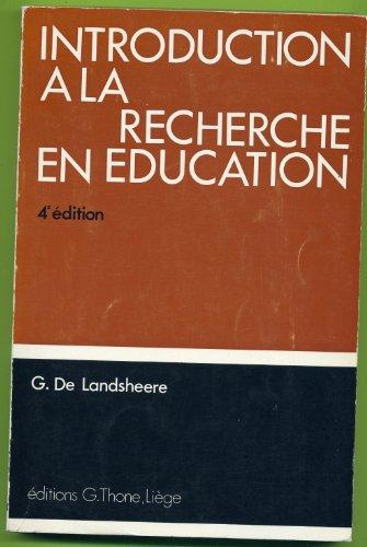 Introduction à la recherche en éducation