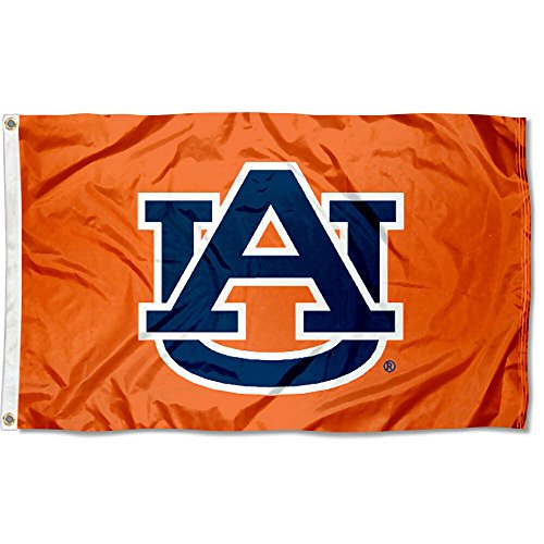 College Flags and Banners Co. Auburn Tigers AU Orange Flagge -