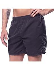 Herren Badeshorts Bermuda Lockere Badehosen Swim Shorts Strandshorts Basic Farben