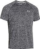 Under Armour Herren UA Tech Ss Fitness T-Shirt, Schwarz (Schwarz Heather), L