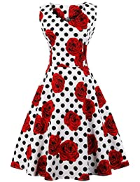 8bee7df134 FAIRY COUPLE 1950S Vintage Rockabilly Lunares Vestido de Baile  DRT072(4XL