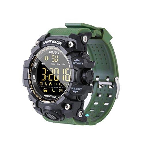 Fuibo Smartwatch Fitness Tracker, EX16S Multifunktion Wasserdicht Smart Watch Remote-Kamera Incoming Call, SMS Reminder, Notification Remind für Kinder Damen Herren Android iOS (Army Green)