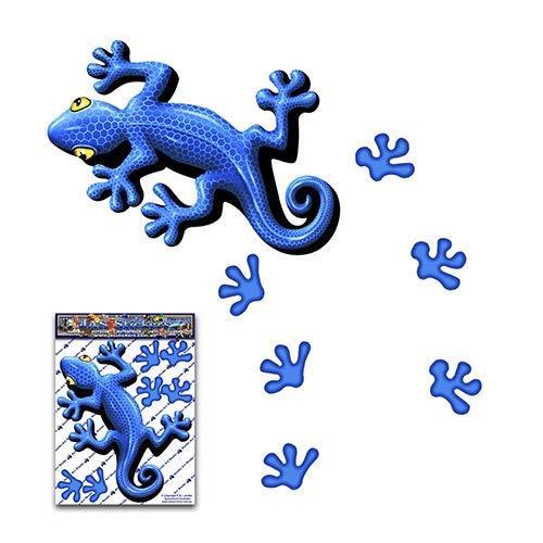Blauer Gecko Tier Lustige Aufkleber für Auto LKW Wohnwagen - ST00031BL_SML - JAS Aufkleber