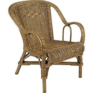 Aubry Gaspard Wicker Child's Chair Orange