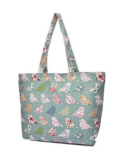 PimPanty, Borsa tote donna Multicolore multicolore, rosa (Multicolore) - 16-Tasche-0012-01 Gruen/Grau