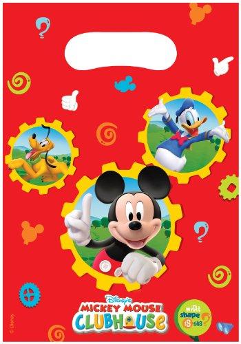 üten–Mickey Mouse (6Beutel) (Mickey-mouse Geburtstag Party Dekorationen)