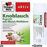 Knoblauch+Mistel+Weißdorn Doppelherz 2x 480Kps. zur Vorbeugung allgemeiner Arterienerkrankungen, Herz-Kreislauf-Funktion, Anti Age +Gratis Rogoff THM 180Tab.