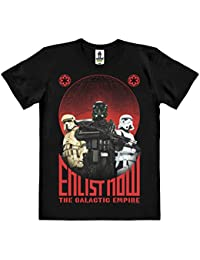 Star Wars - Rogue One - Enlist Now T-Shirt 100 % coton organique (agriculture biologique) - noire - design original sous licence - LOGOSHIRT