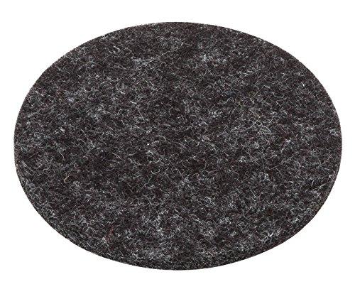 Filz Untersetzer Glasuntersetzer rund Farbe anthrazit Woll Filz Filz 3mm Ø 20 cm