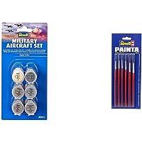 Revell 39071 Ensemble d'avions Militaires & 29621 - Accessoire Maquette - Pinceaux - Pinceaux Standard 6 Tailles
