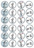 PREMIUM essbare Oblaten Olaf Frozen Reispapier 24 x 4,5 cm Cupcake Topper/Dekoration