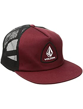 Volcom Straight frwd CHEES tiene Trucker Cap Béisbol Gorro Gorra Rojo Gorra, Vine Red, One size