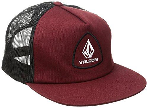 Volcom Straight Frwd Chees Hat Trucker Cap Baseballmütze Snapback Rot Schildmütze, Vine Red, One Size (Verstellbare Schaumstoff-hut)