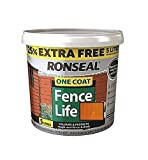 Ronseal 5L One Coat Life - Quick Dry Garden Shed & Fence Paints