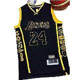 WO NICE LA Kobe Bryant Los Angeles Lakers Basket Uniforme Honor Jersey Senza Maniche Gilet Sportivo Competizione Team Uniforme Fan Basket Uniforme,S170~175CM/55~65kg