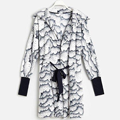 DMMSS Damen-Robe mit komfortablen Cloud Bademäntel Nachtwäsche . white . (Kostüm Kinder Cloud)