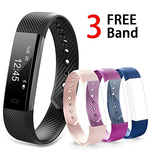 51 I8YjYH3L. SS500  - Navtour Fitness Activity Tracker Band for Woman Man kids, Health workout Tracker with Pedometer, Sleep, Notification Call and SMS For iOS / Android Smartphone With 3 Free Band