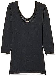 Dollar Ultra Womens Cotton Thermal Top (MULF-001_Black_XXL)