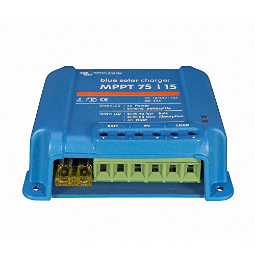 Victron Energy Set BlueSolar   Solarladeregler   Solar-regler   Laderegler   MPPT 75/15   12 - 24 V   15 A   inklusive VE.Direct Bluetooth Smart dongle -