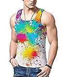 Bfustyle Männer 3D Print Graffiti Weste Mode Tank Tops Ärmelloses T-Shirt