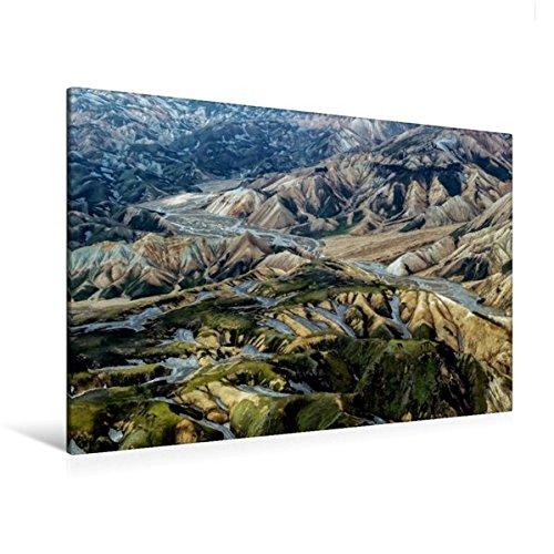 Calvendo Premium Textil-Leinwand 120 cm x 80 cm Quer, Moos und Rhyolith | Wandbild, Bild auf Keilrahmen, Fertigbild auf Echter Leinwand, Leinwanddruck Natur Natur