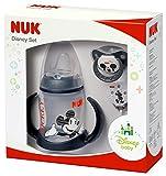NUK 10225123 Disney Mickey Set, limitierte Edition, 3 Produkte in attraktiver Geschenkverpackung, 6-18 Monate, schwarz