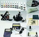 Complete Tattoo Kit Machine Gun 11 Color...