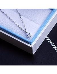 KOMO Vêtements Femme pendentif en argent collier Pendentifs Collier Goutte d'eau l'amour pendentifs chaîne clavicule cadeau sucré simple et versatile