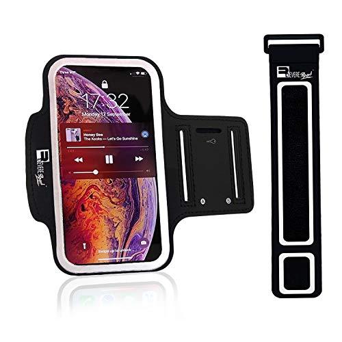 RevereSport iPhone 11/11 Pro Max/XS Max Sportive Fascia da Braccio. Custodia Porta Telefono per Corridori, Allenamenti, Palestra, Fitness e Sport