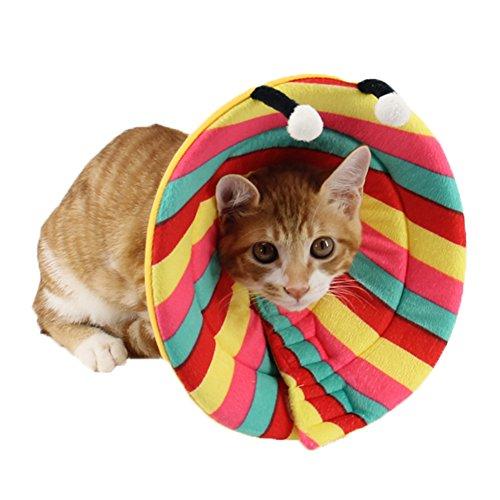 ZuckerTi komfortabel neuartig Halskrause Halskragen Schutzkragen Wundheilung Hundehalsband Cone Schutz Smart Halsband Sicherheit für Hund Hunde Kätzchen Katze kaninchen Hase Haustier