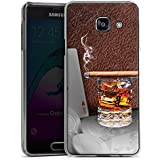 Samsung Galaxy A3 (2016) Housse Étui Protection Coque Cigare Whisky Cartes
