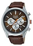 Pulsar Herren-Armbanduhr Analog Quarz Leder PT3723X1
