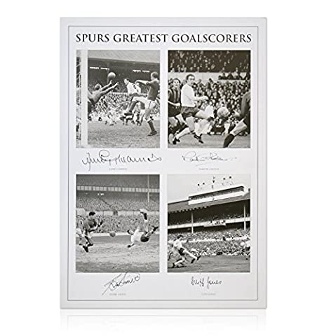 Spurs Greatest Goalscorers Print - Hand Signed By Greaves, Chivers,