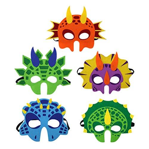 Amosfun Maske Party Filz Dinosaurier Tyrannosaurus Triceratops für Kinder Cosplay Cosplay Maske Maske Lustige 5 ()