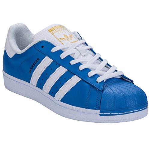 Adidas Superstar Schuhe ray blue-running white-runnning white - 45 1/3