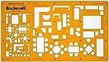 1:50 und 1:100 Architekt Schablone Zeichenschablone Möblierung - Innenarchitektur Technisches Zeichnen