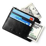 Lackingone Portafoglio Uomo di Classe in Pelle Genuina con Protezione RFID/NFC 8 Tasche per Carte di Credito e Portamonete Pelle Wallet Classico e Sottile Minimalista