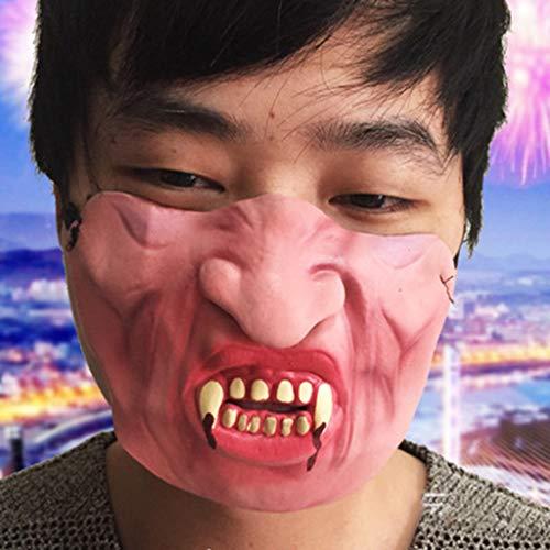 Lack Pet Kostüm - Maleya Halloween Lustige lustige Maske Big Lips Headgear Pet Funny Mask Halloween Party Festival Ideale Maske zum Leuchten bringen Maske Festival Augenmaske Kostüm Spielzeug Halloween